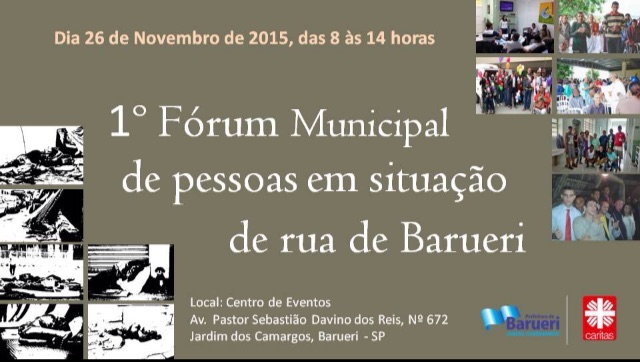 1 Forum Municipal de Pessoas em Situação de rua