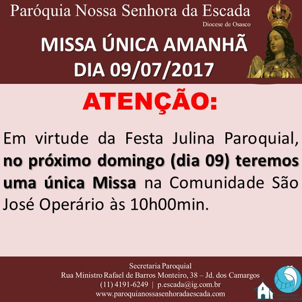 Missa Unica - 09.07.2017